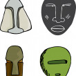 Four Masks - Stock Photo