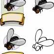 Organic Housefly Design — Stock Photo