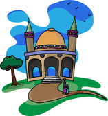 Trip To A Little Mosque — Stock Photo