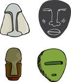 Four Masks — Stock Photo