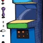 Customizable Arcade Game — Stock Vector #8617222