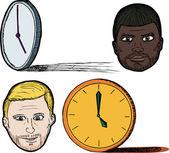 Five O'clock Shadow on the face of men — Stock Vector