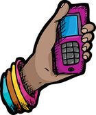 Phone In Hand — Stock Vector