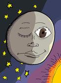 Man On The Moon — Stock Vector