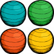 Pilates Ball Colors — Stock Vector