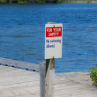 No Swimming Allowed Sign — Stock Photo