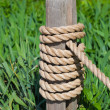 Post with Rope — Foto de Stock