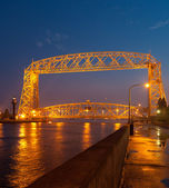 Aerial Lift Bridge at Dusk — Stock Photo