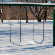 Snow Covered Swing Set — Stock Photo