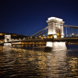 The Chain Bridge at Night - Stock Photo