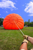 Inflating a Hot Air Balloon — Stock Photo