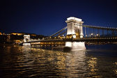 The Chain Bridge at Night — Stock Photo