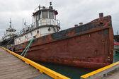Derelict Ship Anchored — Stock Photo