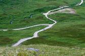 Carretera a través de la tundra — Foto de Stock