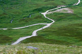 Droga przez tundra — Zdjęcie stockowe