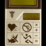 Electronic Health Calculator — Stock Photo
