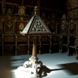 Lectern and pew of a cathedral choir — Stock Photo