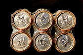 Pack non alcoholic beer cans — Stock Photo