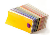 Color guide closed. Yellow cover — Stock Photo