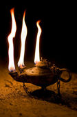 Aged Oil Lamp — Stock Photo