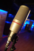 Microphone in a Bar — Stock Photo