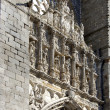 Stock Photo: Cathedral of avilin Spain. Arch in principal front entry