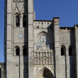 Stock Photo: Cathedral of Avilin Spain. Principal front entry