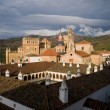Royal Monastery of Santa Maria de Guadalupe. Caceres, Spain - Stock Photo