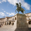 Mayor Square in Trujillo. Caceres, Spain. — Stock Photo
