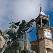 Mayor Square in Trujillo. Caceres, Spain. - Stock Photo