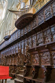The Choir Stalls in Santa Maria Cathedal of Astorga. Spain — Stock Photo