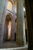 Pillars of the main nave in Santa Maria Cathedal of Astorga. Spain — Стоковое фото