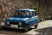 Antique blue car — Stock Photo