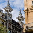 Victorian style roof. Typical in San Sebastian. Spain — Stock Photo