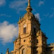 Clock tower of Corazon de Maria Church. San Sebastian, Spain - 图库照片