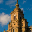 Clock tower of Corazon de Maria Church. San Sebastian, Spain - Stok fotoraf