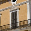 Stock Photo: Classic Facade in Colonial Style Building. Ibiza, Spain