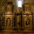 Baroque altarpiece in SantMaride HuertCisterciMonastery, Soria. Sp — Stockfoto #8467773
