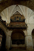 Church (organ in choir) in Santa Maria de Huerta Cistercian Monastery, Sori — Foto Stock