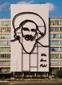 Fidel Castro Monument in Plaza de la Revolucion. La Havana, Cuba — Stock Photo