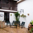 Typical patio from Castilla la Mancha house. Posada in Toledo, Spain — Stock Photo