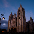 Stock Photo: Cathedral of Leon in Spain