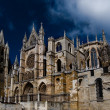 Cathedral of Leon in Spain — Stock Photo #8485469