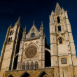 Cathedral of Leon in Spain - Stock Photo