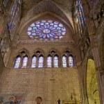 Lateral porch of Santa Maria de Leon Cathedral in Leon. Spain — Stock Photo #8485925