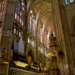 Choir in Santa Maria de Leon Cathedral. Leon, Spain — Stock Photo
