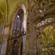 Lateral nave of Santa Maria de Leon Cathedral in Leon. Spain — Stock Photo