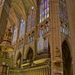 Choir in Santa Maria de Leon Cathedral. Leon, Spain — Stock Photo #8486059