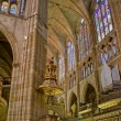 Choir in Santa Maria de Leon Cathedral. Leon, Spain — Stock Photo #8486098