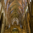 Central nave in SantMaride Leon Cathedral. Leon, Spain — Stock Photo #8486247